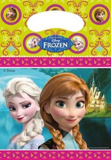 Afbeelding van Uitdeelzakjes Frozen Roze