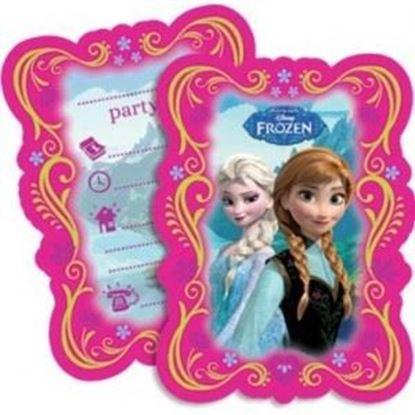 Afbeeldingen van Uitnodigingen Frozen Roze