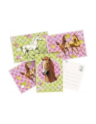Afbeeldingen van Uitnodigingskaart Paarden