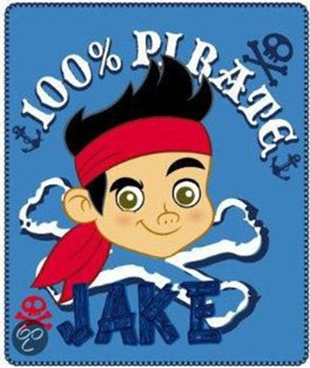 Afbeeldingen van Disney Jake en de nooitgedachtland piraten Fleecedeken