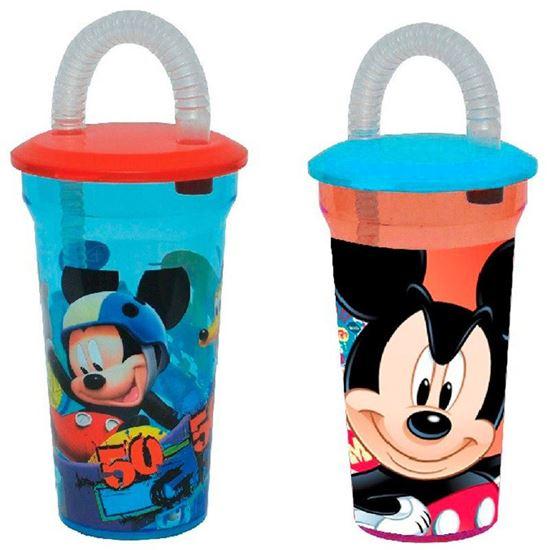 Afbeelding van Drinkbeker met rietje Mickey Mouse