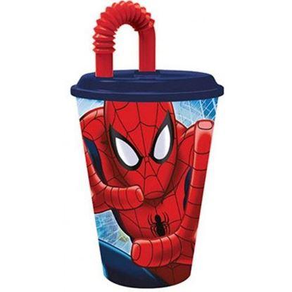 Afbeeldingen van Spiderman beker met rietje