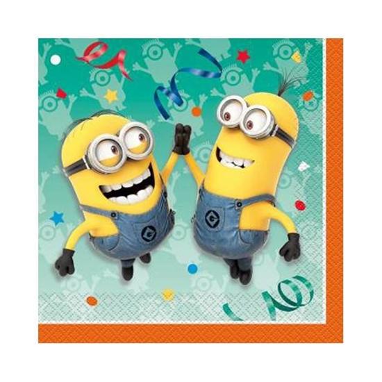 Afbeelding van Servetten Minions Geel groot (Despicable Me)