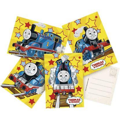 Afbeeldingen van Thomas uitnodigingen geel