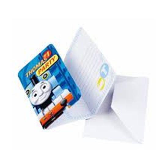 Afbeelding van Thomas uitnodigingen blauw