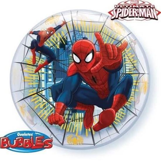 Afbeelding van Bubble ballon Spiderman 22""