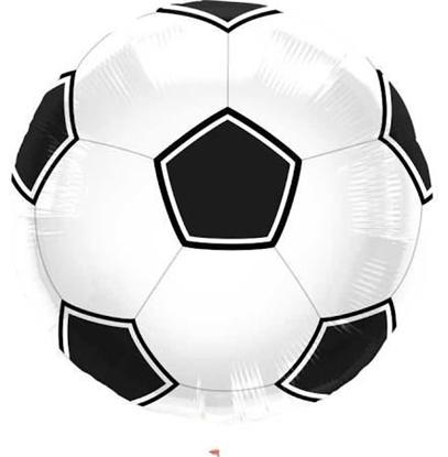 """Afbeeldingen van Folie ballon voetbal 17"""""""