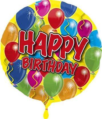 """Afbeeldingen van Folie ballon Happy Birthday 18"""""""