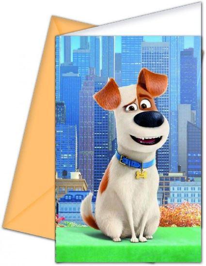 Afbeelding van Huisdierengeheim uitnodigingen 6 stuks