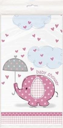 Afbeeldingen van Babyshower tafelkleed Oliant Roze