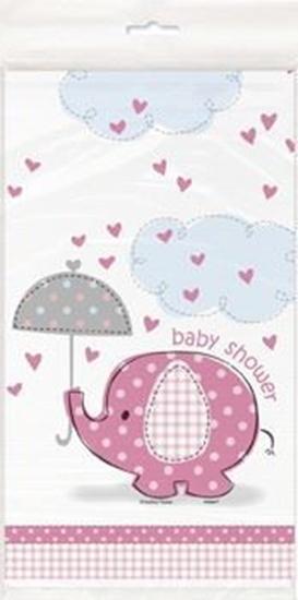 Afbeelding van Babyshower tafelkleed Oliant Roze