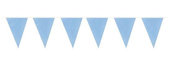 Afbeelding van Vlaggenlijn baby blauw 10 meter