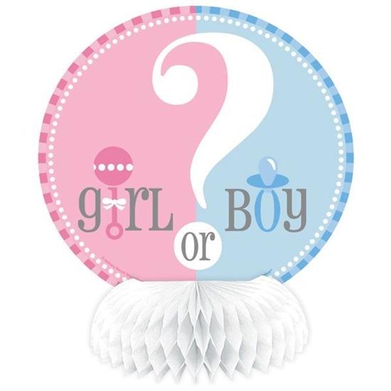 Afbeelding van Boy/girl tafeldecoratie babyshower