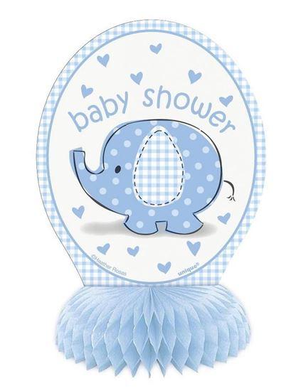 Afbeelding van Babyshower tafeldecoratie Olifant Blauw