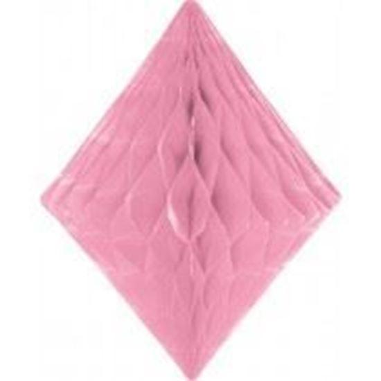 Afbeelding van Babyshower honeycomb diamant roze