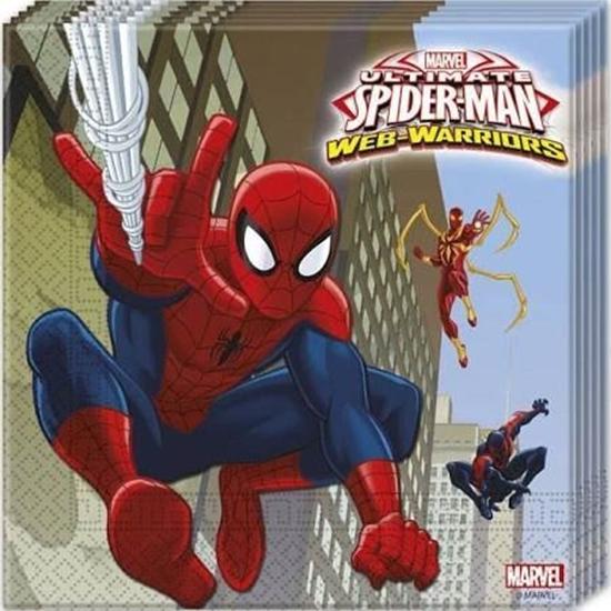 Afbeelding van Spiderman servetten