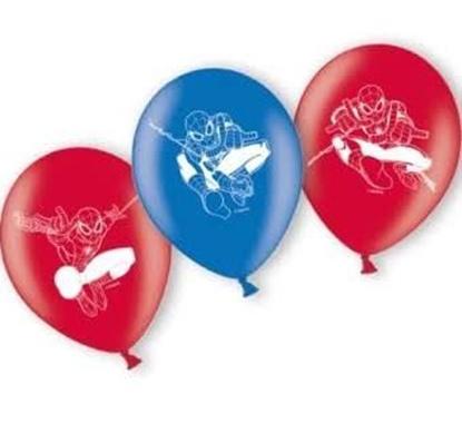 Afbeeldingen van Spiderman ballonnen 6 stuks