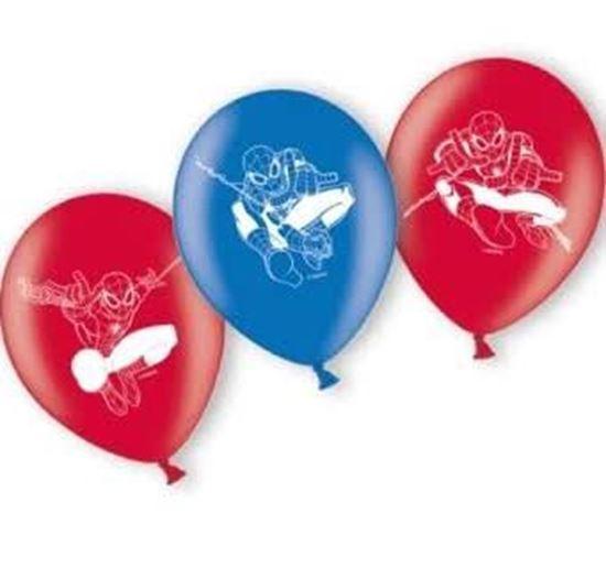 Afbeelding van Spiderman ballonnen 6 stuks