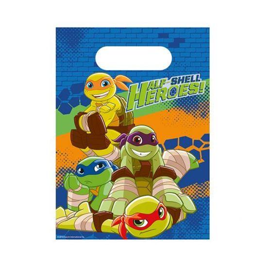Afbeelding van Uitdeelzakjes Ninja Turtles 8 stuks