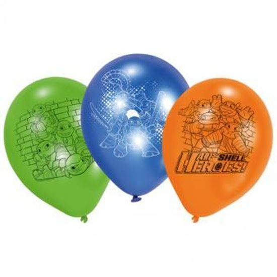Afbeelding van Ballonnen Ninja Turtles 6 stuks