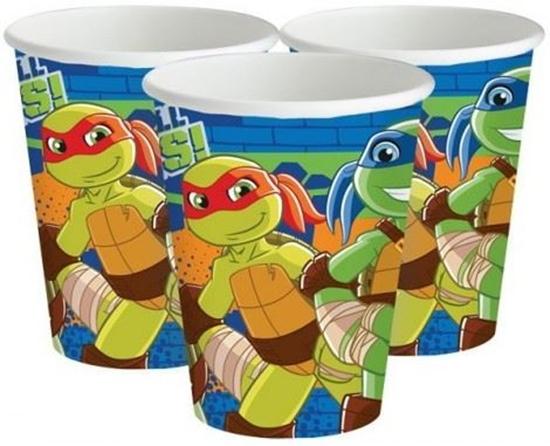 Afbeelding van Bekertjes Ninja Turtles 266ml 8 stuks
