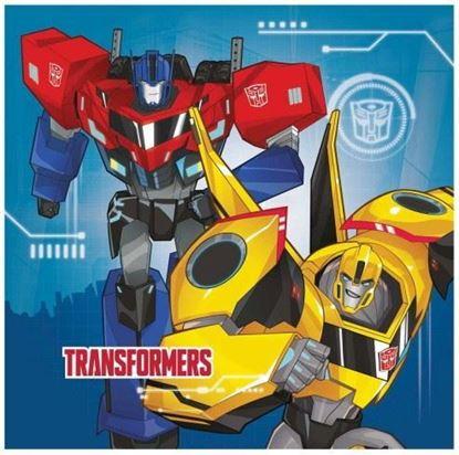 Afbeeldingen van Servetten Transformers 20 stuks