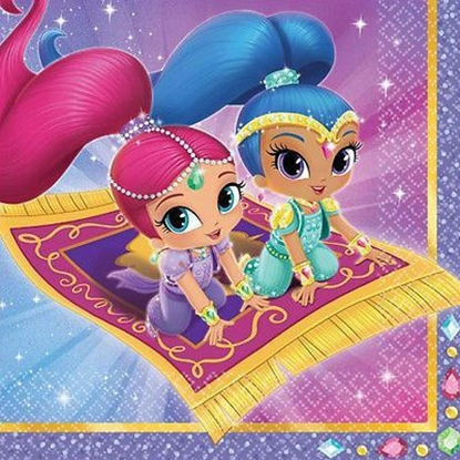 Afbeeldingen van Shimmer and Shine servetten