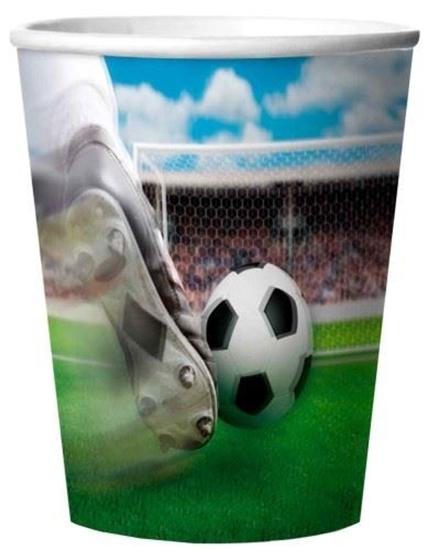 Afbeelding van Bekertjes voetbal 3d 4 stuks