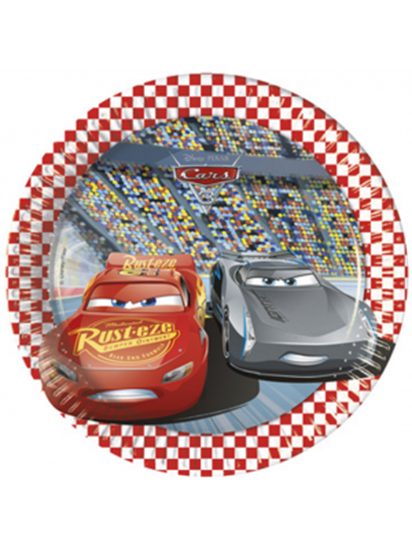 Afbeelding van Cars bordjes klein 8 stuks