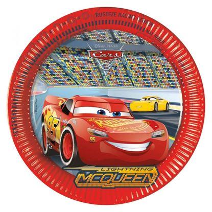 Afbeeldingen van Cars bordjes groot 8 stuks