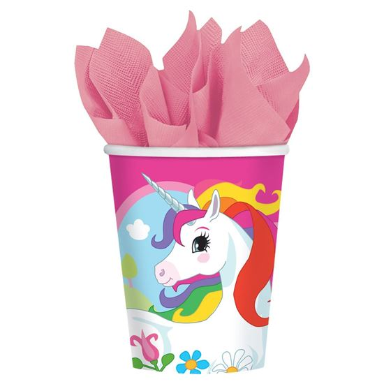 Afbeelding van Unicorn bekers 8 stuks