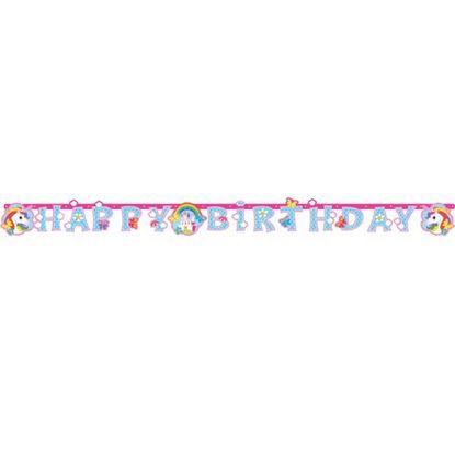 Afbeeldingen van Unicorn Happy Birthday slinger