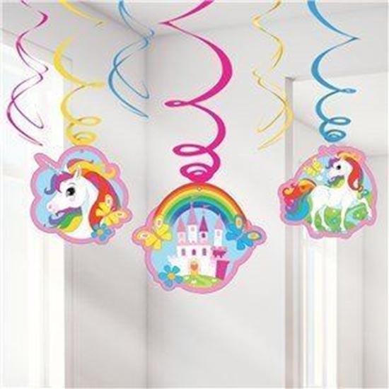 Afbeelding van Unicorn swirl deco