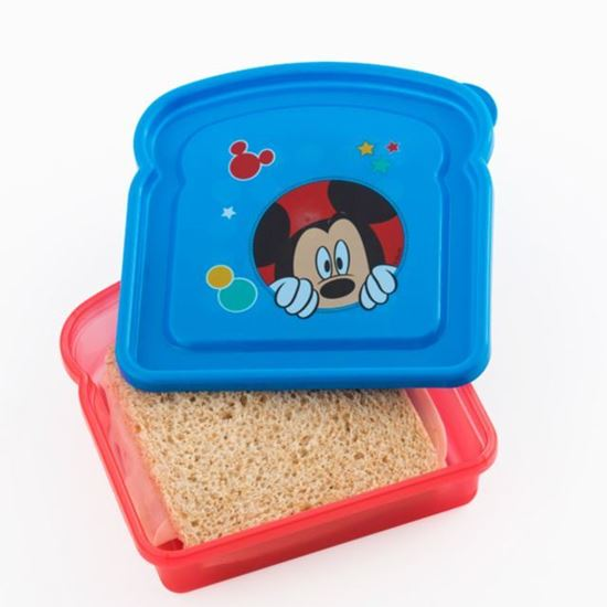 Afbeelding van Lunchbox Mickey Mouse blauw/rood