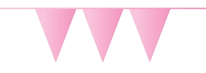 Afbeeldingen van Vlaggenlijn baby roze 10 meter
