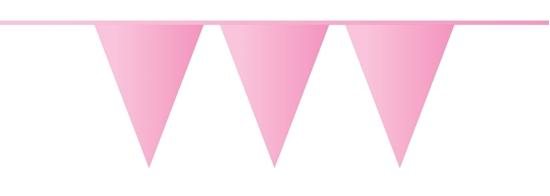 Afbeelding van Vlaggenlijn baby roze 10 meter