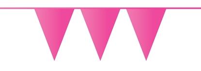 Afbeeldingen van Vlaggenlijn fuchsia roze 10 meter