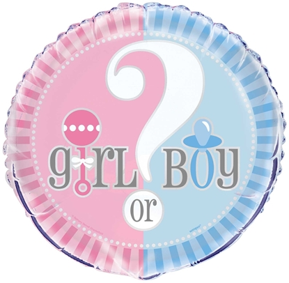 """Afbeeldingen van Boy/Girl helium ballon 18"""""""