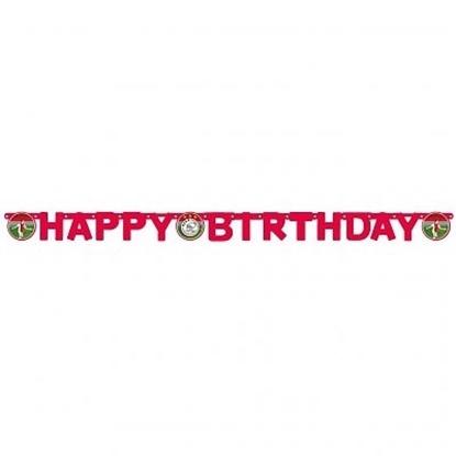 Afbeeldingen van Ajax letterslinger Happy Birthday
