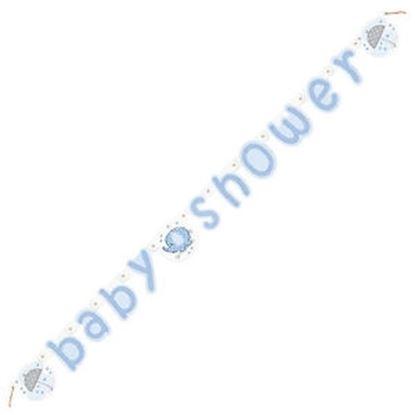 Afbeeldingen van Babyshower letterslinger olifant blauw