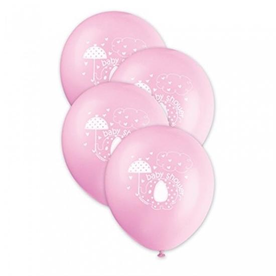 Afbeelding van Babyshower ballonnen Olifant Roze