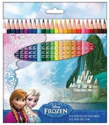 Afbeeldingen van Disney Frozen 24 stuks kleurpotloden